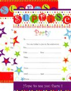 Surprise Party Invitations, Pack of 20 (Design Varies)